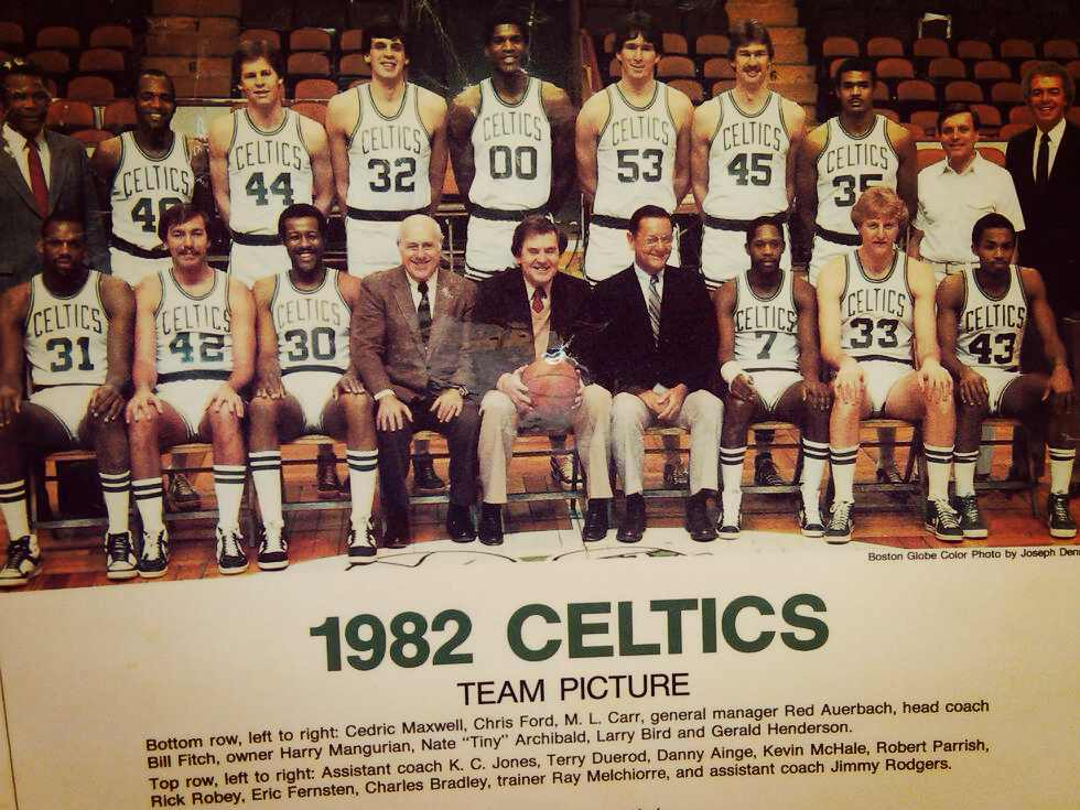"Boston Celtics 1982, ""Boston Globe anual Photo"""
