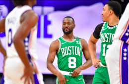 Kemba Walker brilló pero Joel Embiid fue demasiado para los Celtics