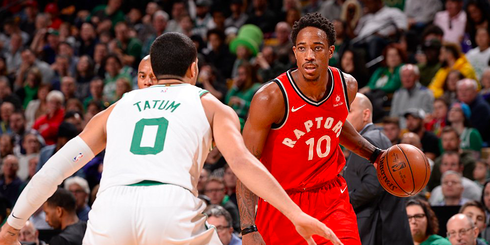 Los Boston Celtics contra los Toronto Raptors