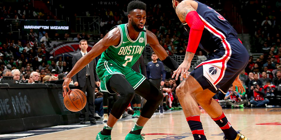 Jaylen Brown fue la figura de los Celtics contra los Wizards