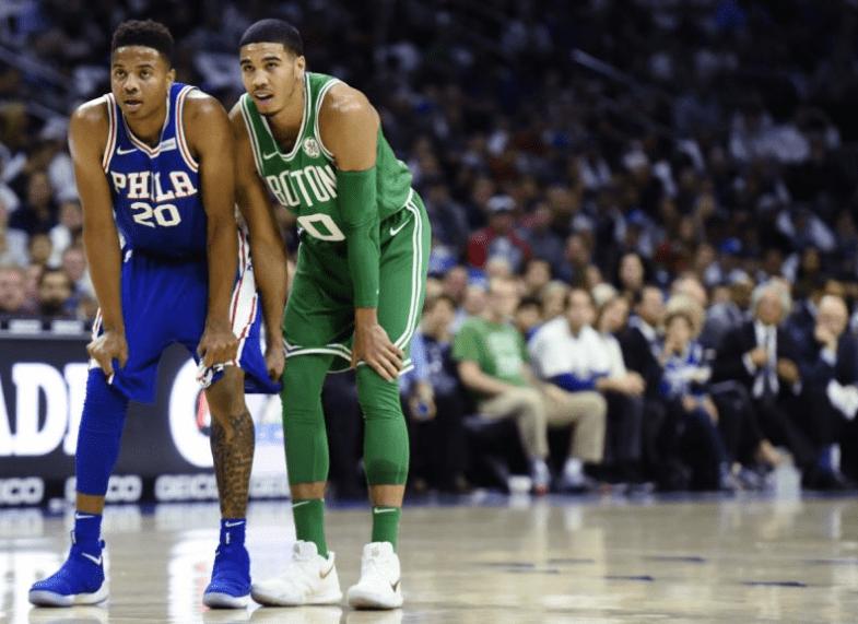 Jayson Tatum y el banquillo de los Boston Celtics ganan el primer partido de la temporada