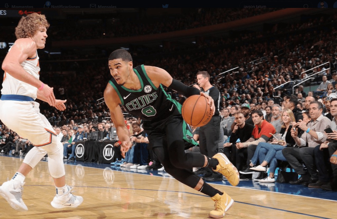 Jayson tatum héroe de los Boston Celtics frente a los Knicks