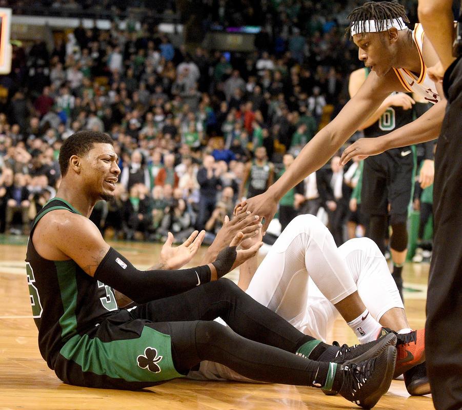 Marcus Smart, jugador de los Boston Celtics, podría perderse lo que resta de temporada a causa de la maldición