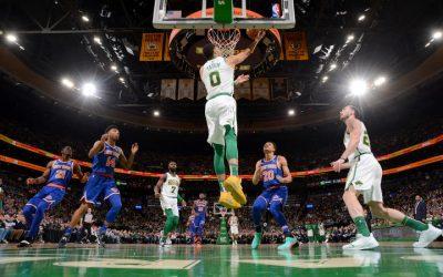 Regreso de Brown y victoria tranquila de los Celtics