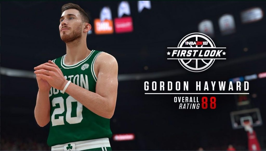 Gordon Hayward tendrá una valoración de 88 en el NBA 2K18