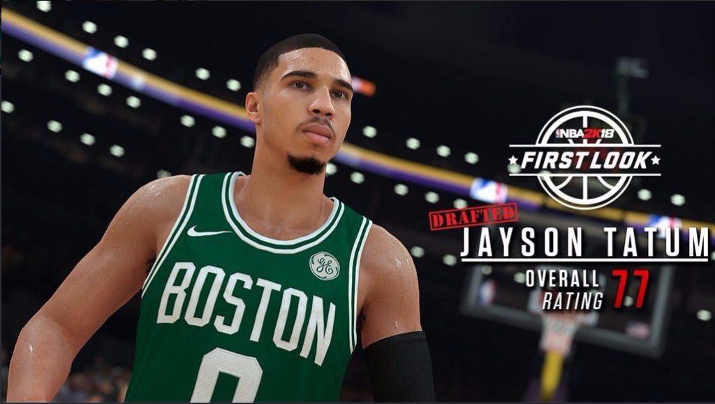 Jayson Tatum tendrá una valoración de 77 en el NBA 2k18