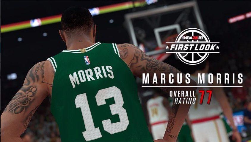 Marcus Morris valoración NBA 2K18