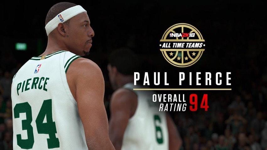 Paul Pierce será uno de los históricos de los Celtics en NBA2K18