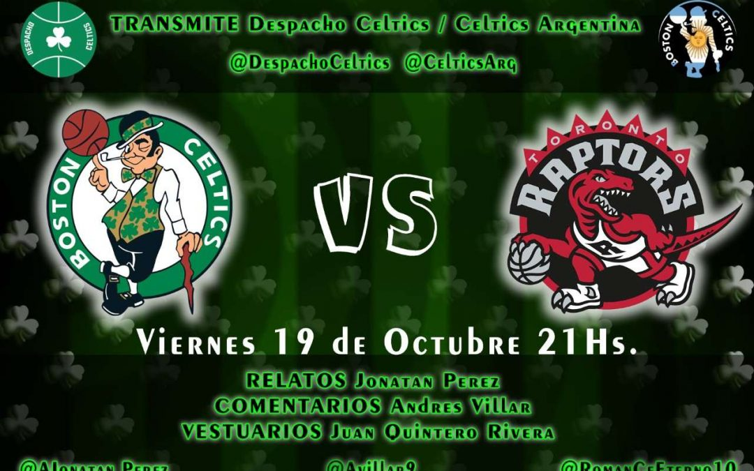 Los directos del despacho: Boston Celtics contra Toronto Raptors