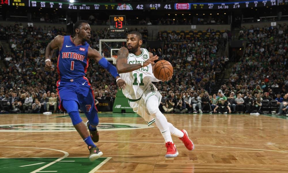 Los Celtics derrotaron a los Pistons con un Kyrie Irving estelar