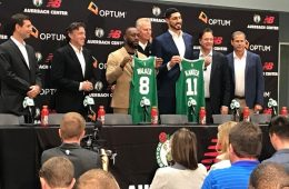 los boston celtics presentan a kemba walker y enes kanter
